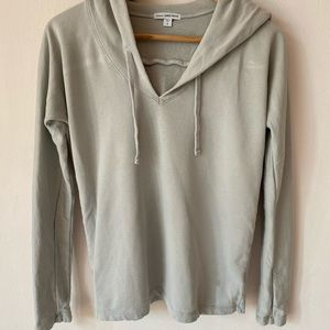 James Perse Grey Pullover Hoodie Sweater sz 0